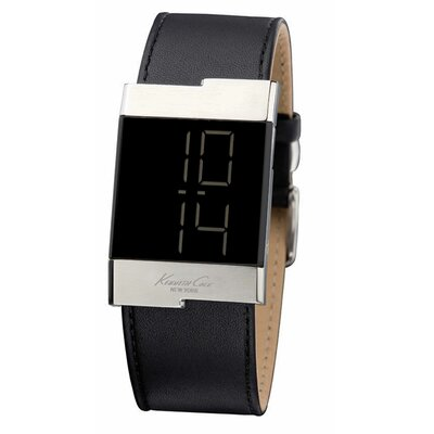 Kenneth Cole Men's Straps Digital Watch in Black