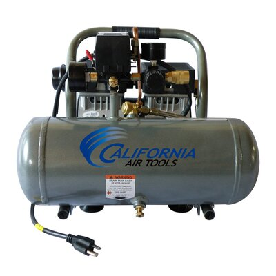 California Air Tools 1.6 Gallon Ultra Quiet and Oil-Free 1.0 HP Aluminum Tank Air Compressor