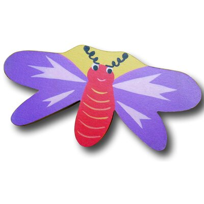 Dragonfly Drawer Knob in Purple / Yellow Back