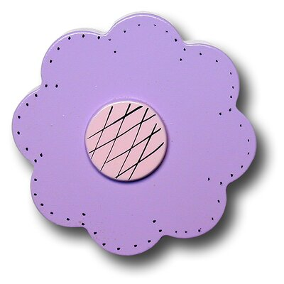 Lollipop Flower Drawer Knob in Bright Purple