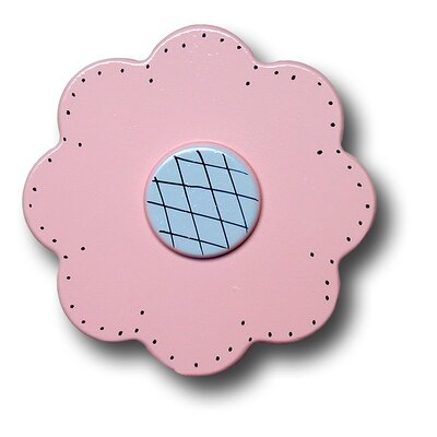 Lollipop Flower Drawer Knob in Pastel Pink
