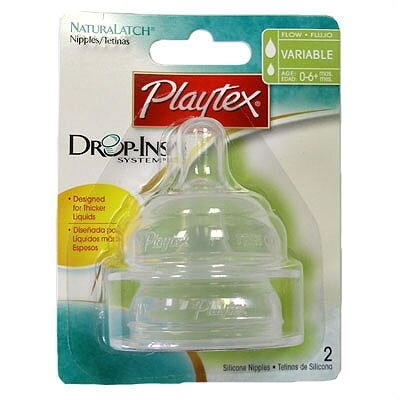 Playtex NaturaLatch Silicone Variable Flow Nipples