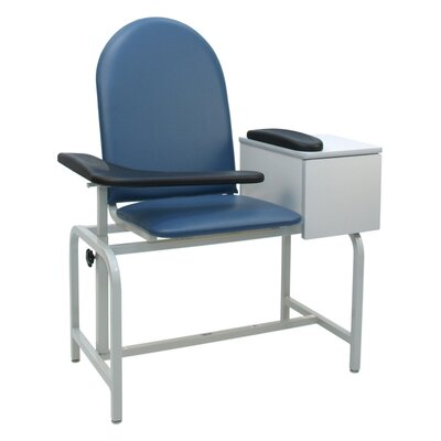 Winco Manufacturing Padded Blood Drawing Chair with Drawer