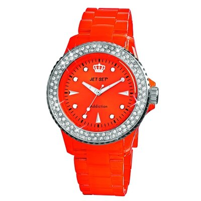 Jet Set Addiction Ladies Watch in Polished Red with Silver Bezel