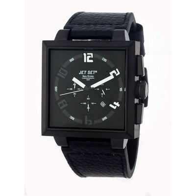 Jet Set San Remo Men's Watch with Black Square Case