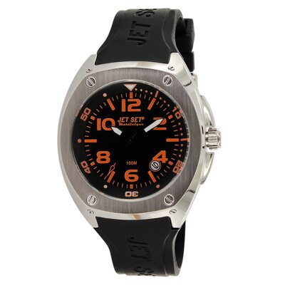 Jet Set Martinique Men's Watch with Black / Orange Dial