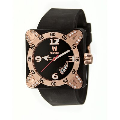Vuarnet Deepest Lady Ladies Watch in Black with Rose Gold Bezel