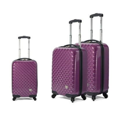 BENZI 3 Piece 4 Wheel Hardsided Trolley Set