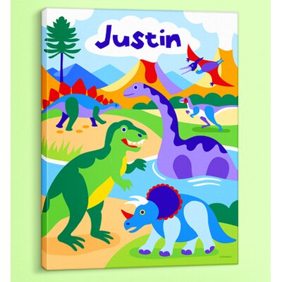 Dinosaur Land Personalized Canvas Art