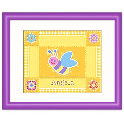 Olive Kids Flower Land Personalized Print with Purple Frame