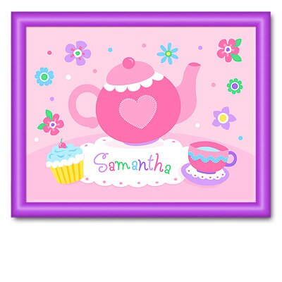 Tea Party Personalized Print with Purple Frame