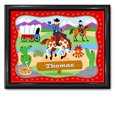Ride 'em Personalized Print with Gloss Black Frame