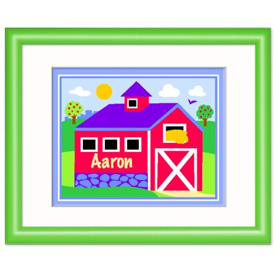 Country Farm Personalized Wood Framed Print