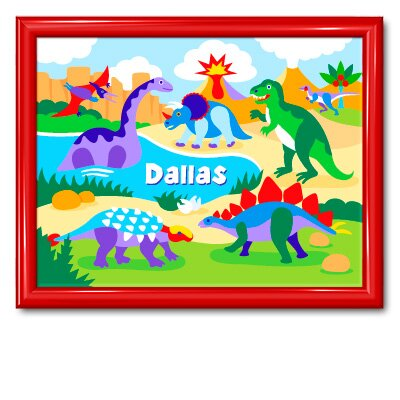 Dinosaur Land Large Personalized Print