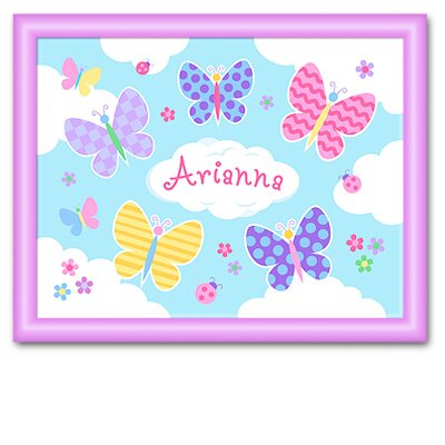 Olive Kids Butterfly Garden Large Personalized Print