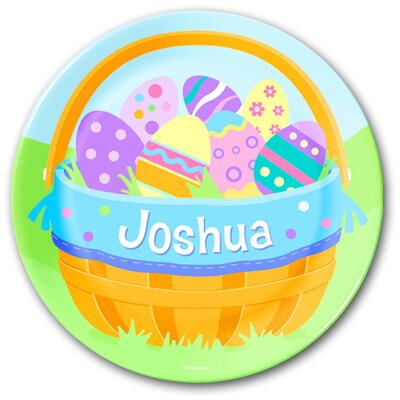 Olive Kids Easter Boys Basket Personalized Kids Plate