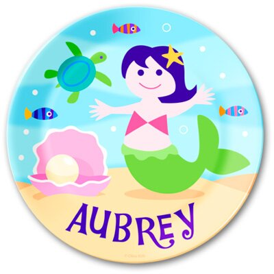 Olive Kids Mermaids Personalized Kids Plate