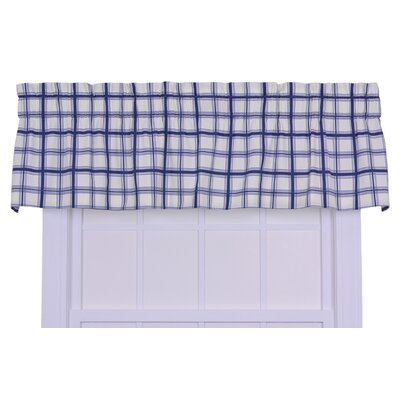 Ellis Curtain Logan Cotton Rod Pocket Large Scale Plaid Tailored Valance Window Curtain