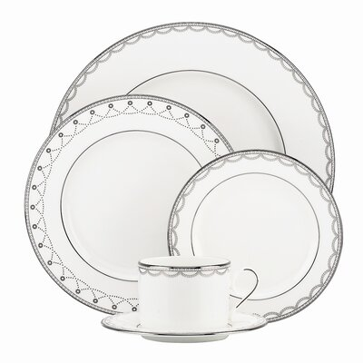 Lenox Iced Pirouette 5 Piece Place Setting