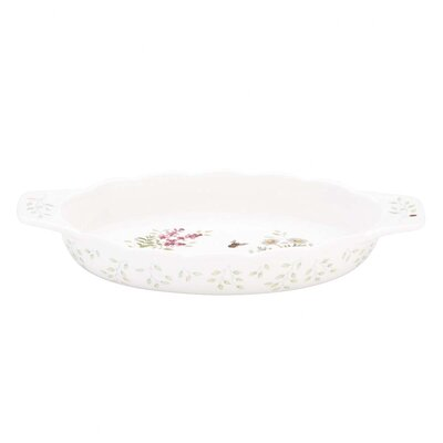 Lenox Butterfly Meadow Herbs Oval Baker