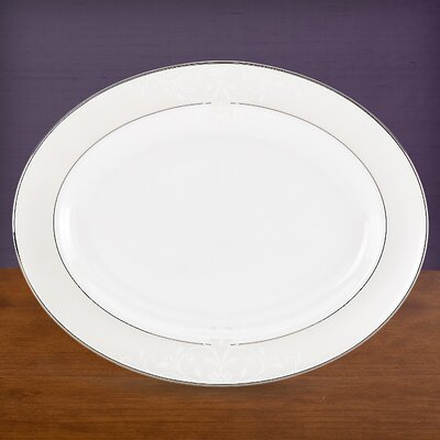 Lenox Opal Innocence Scroll Oval Platter