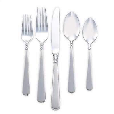 Pearl Platinum 5 Piece Flatware Set