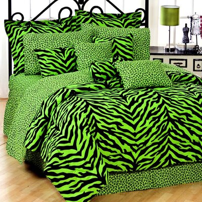 Karin Maki Lime Zebra Bedding Collection