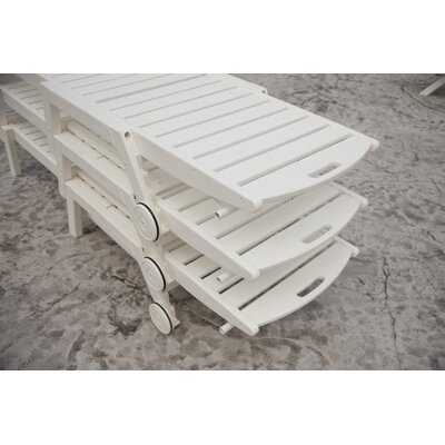 POLYWOOD® Nautical 3 Piece Chaise Set with Cushions