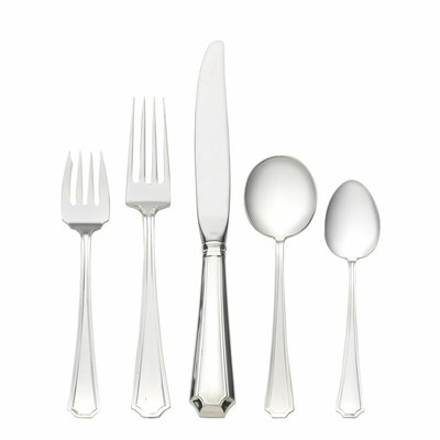 Gorham Fairfax 5 Piece Dinner Flatware Set with Cream Soup Spoon