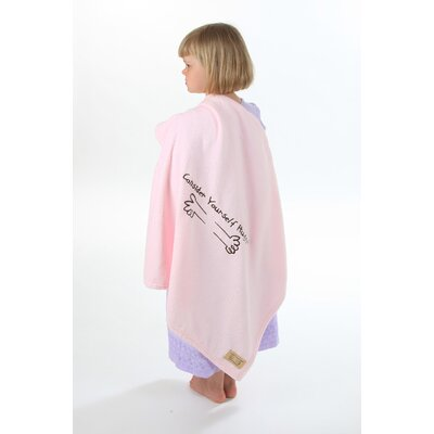 Consider Yourself Hugged Marshmallow Plush Blanket in Bubble Gum Pink with Chocolate Hug