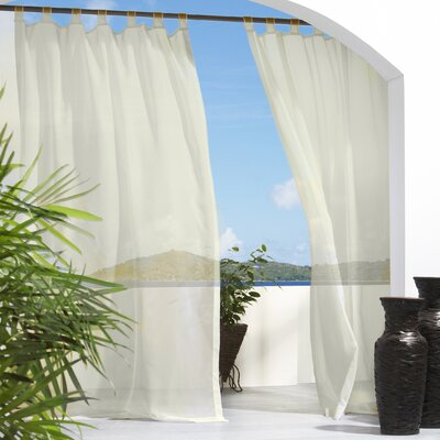 Commonwealth Home Fashions Outdoor Décor Escape Tab Top Curtain Single Panel