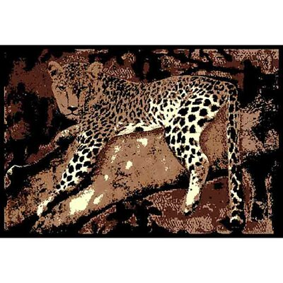 DonnieAnn Company African Adventure Leopard on Tree 3 Novelty Rug