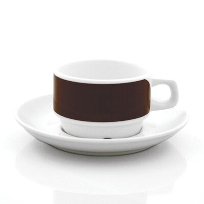 notNeutral Brown Links Cup and Saucer Set