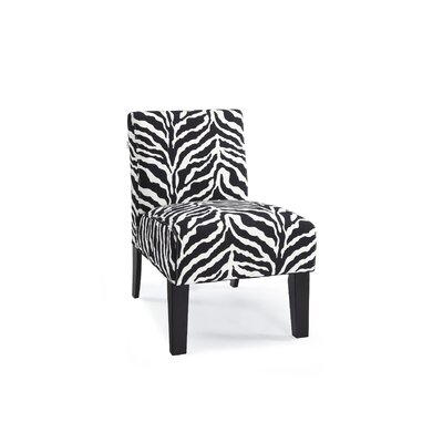 DHI Deco Zebra Fabric Slipper Chair
