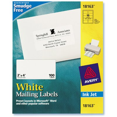 Avery 10 Sheets Mailing Label in White
