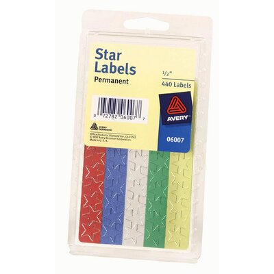 Avery 5/8&quot; Colored Star Label