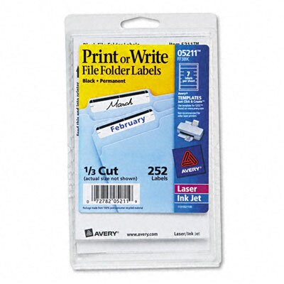 Avery Print or Write File Folder Labels