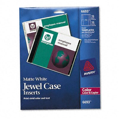 Avery Jewel Case Inserts