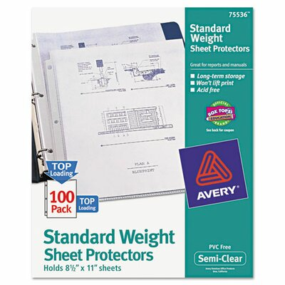Avery Top-Load Polypropylene Sheet Protector (100 Pack)