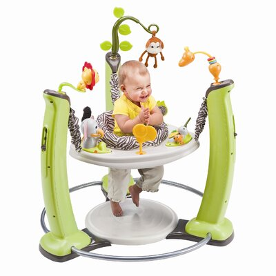 Evenflo ExerSaucer Jump and Learn Stationary Jungle Quest Bouncer