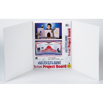 "CPPInternational 14"" x 22"" White Project Board with Ghostline"