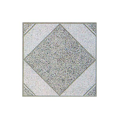 Home Dynamix Vinyl White Stone Diamond Floor Tile (Set of 20)