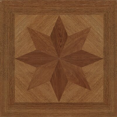 "Home Dynamix 16"" x 16"" Vinyl Tiles in Paramount Woodtone Star Design"