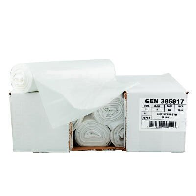 "General 30"" x 36"" High-Density Can Liner in Clear"