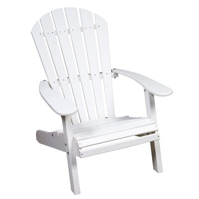 Great American Woodies Lifestyle Poly Resin Fan Back Adirondack Chair