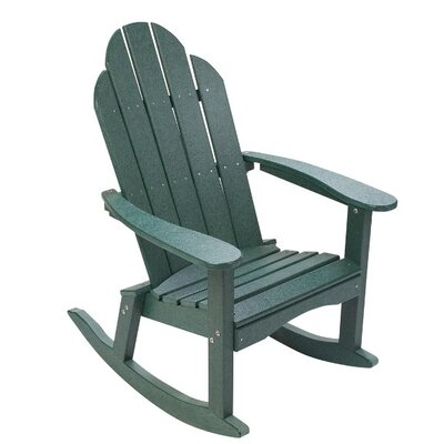 Great American Woodies Lifestyle Poly Resin Adirondack Rocking Chair