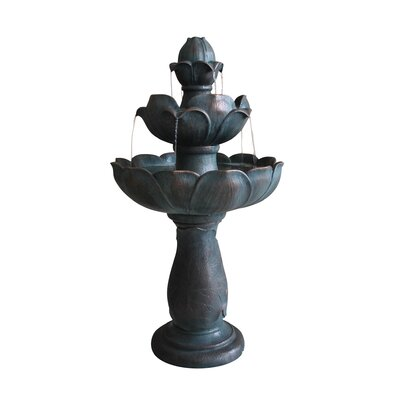Fiberglass Tiered Lotus Fountain