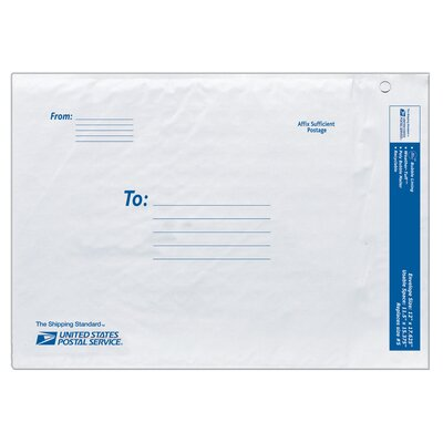 Lepages 12&quot; USPS Poly Bubble Mailer in White