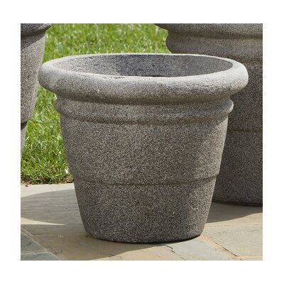 Alfresco Home Rolled Rim Round Planter