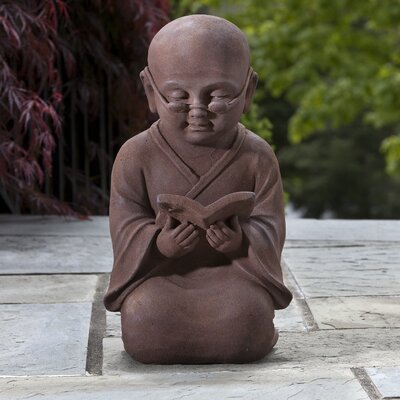 Alfresco Home Reading Buddha Statue
